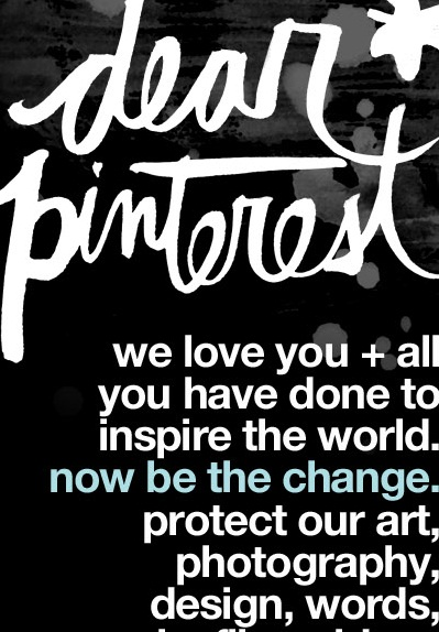 Dear Pinterest Pin With Love proteccion de derechos de propiedad intelectual