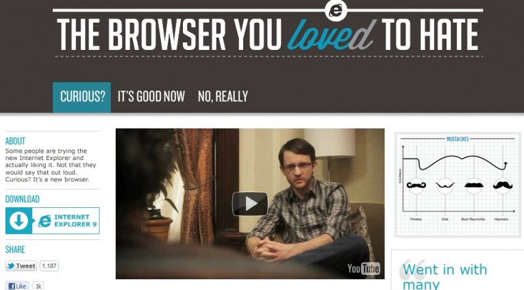 The Browser You Loved to Hate Internet Explorer campaña