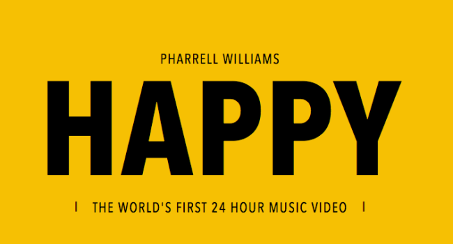 24 hours of Happy videoclip interactivo
