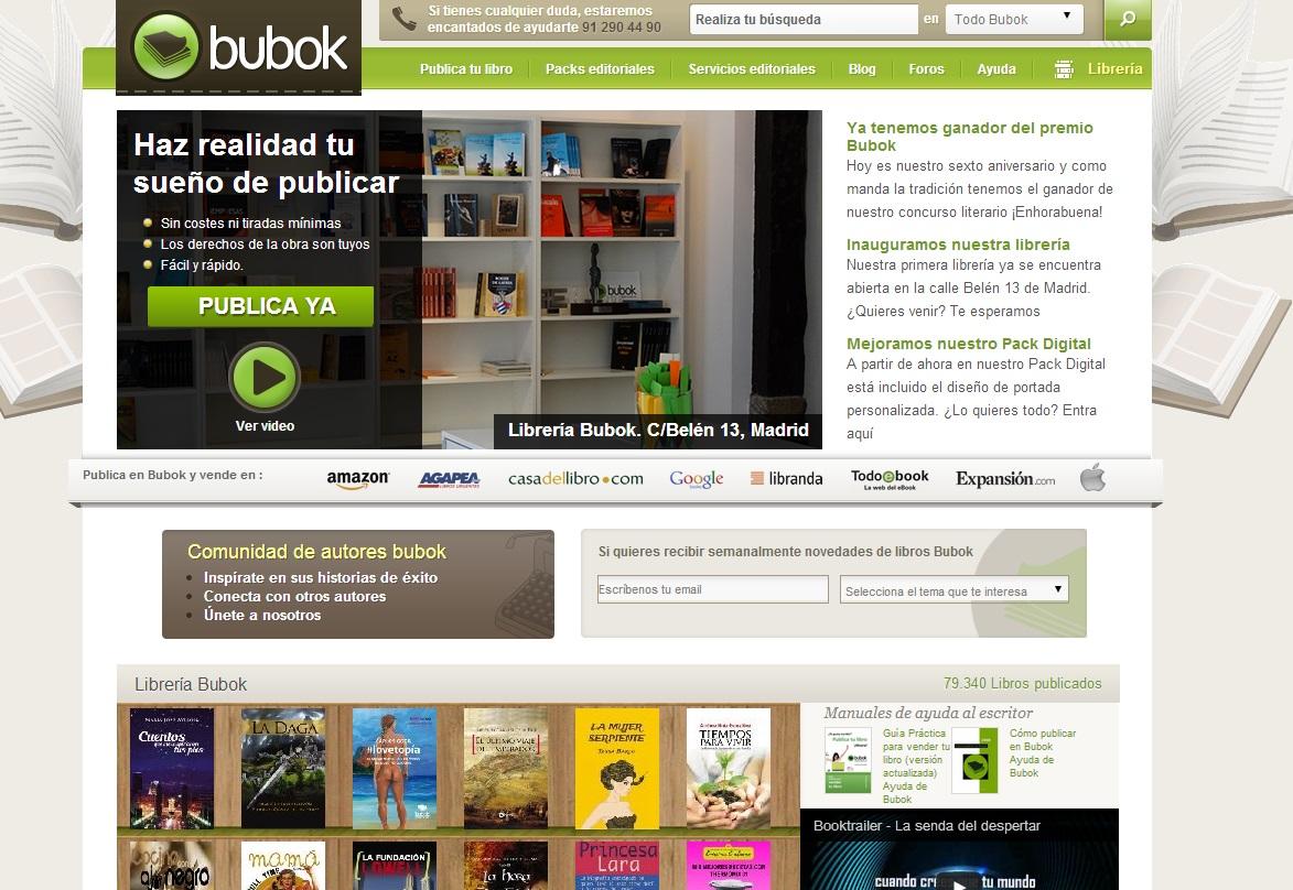 Publicar un libro online con Bubok