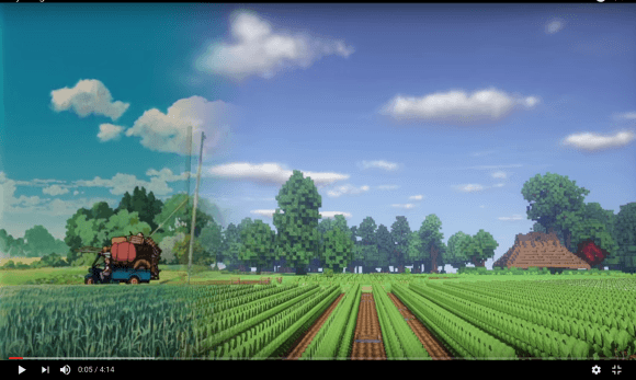 Totoro versión Minecraft