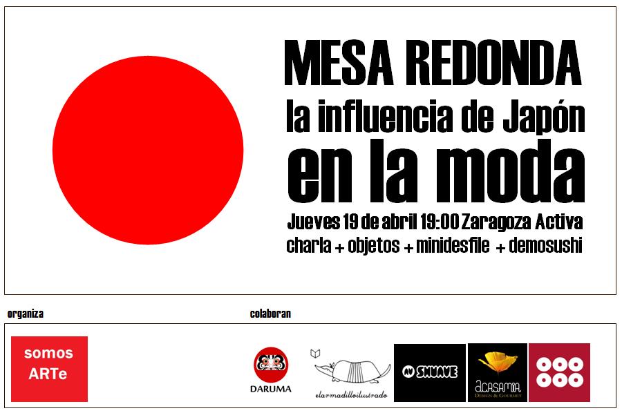 Mesa Redonda sobre la influencia de Japon en la moda y el diseño en Zaragoza este jueves