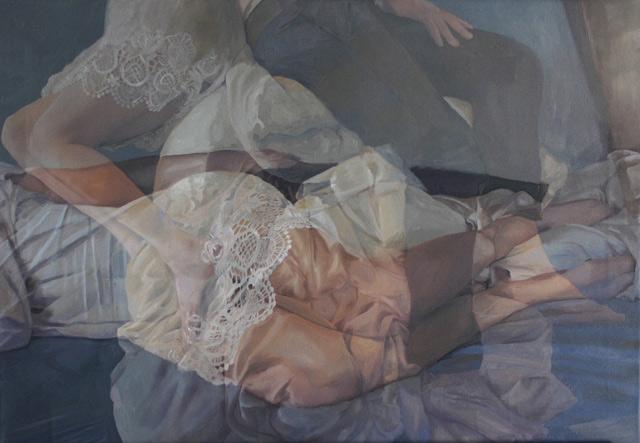Pakayla Rae Biehn oleo pintura fotorrealismo