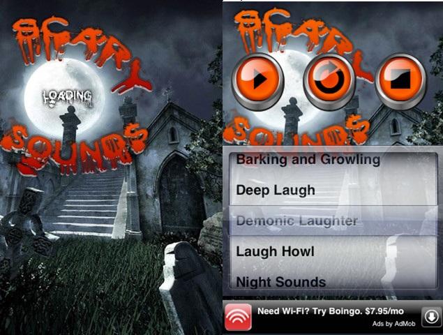 Aplicación de sonidos de terror Scary Sounds