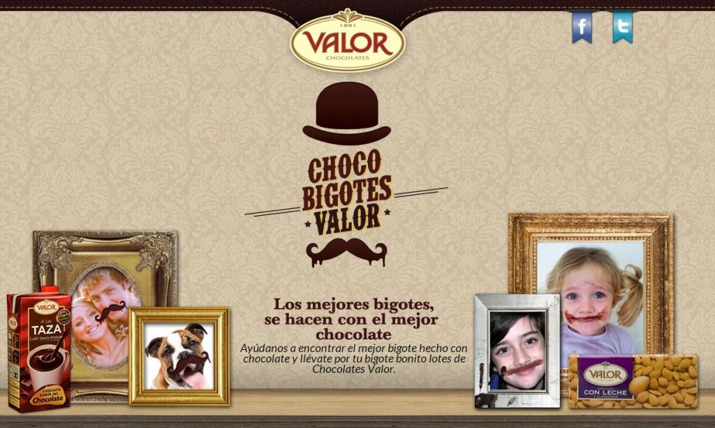 Campaña chocobigotes de Chocolates Valor