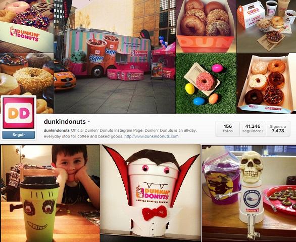 Dunkin donuts en Instagram