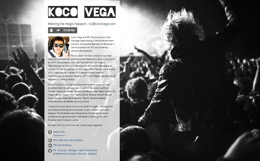 About me Koco Vega