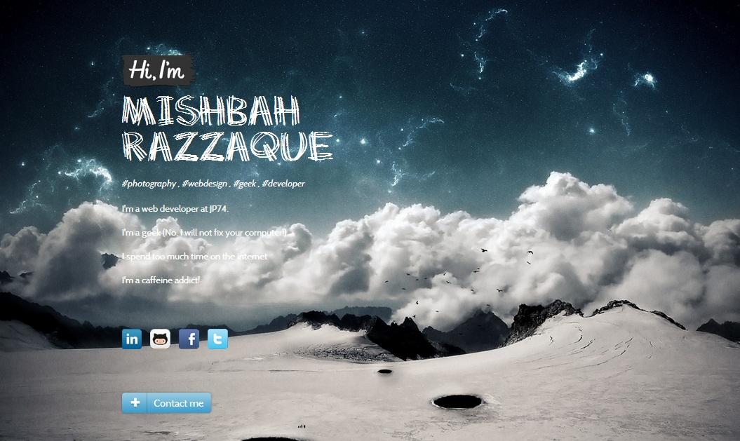 Hi im Mishbah Razzaque