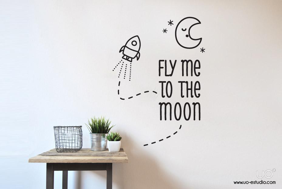 Un vinilo para poner en nuestra pared y recordar la melodía de Fly me to the moon una y otra vez...