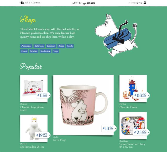 Sitio Oficial de Moomins Online