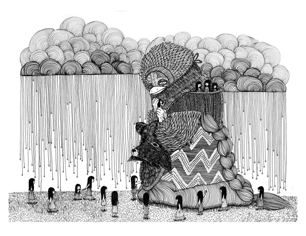 Ani-castillo-illustration-oldskull-1