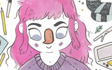 Lize Meddings, ilustraciones de chicas de ojos grandes, colores suaves y fantasmas tristes