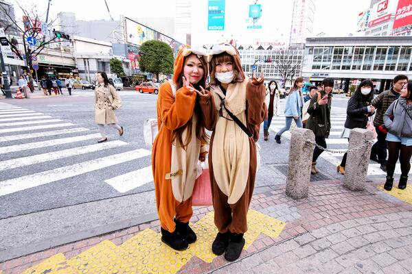 Japonesas vistiendo un kigurumi