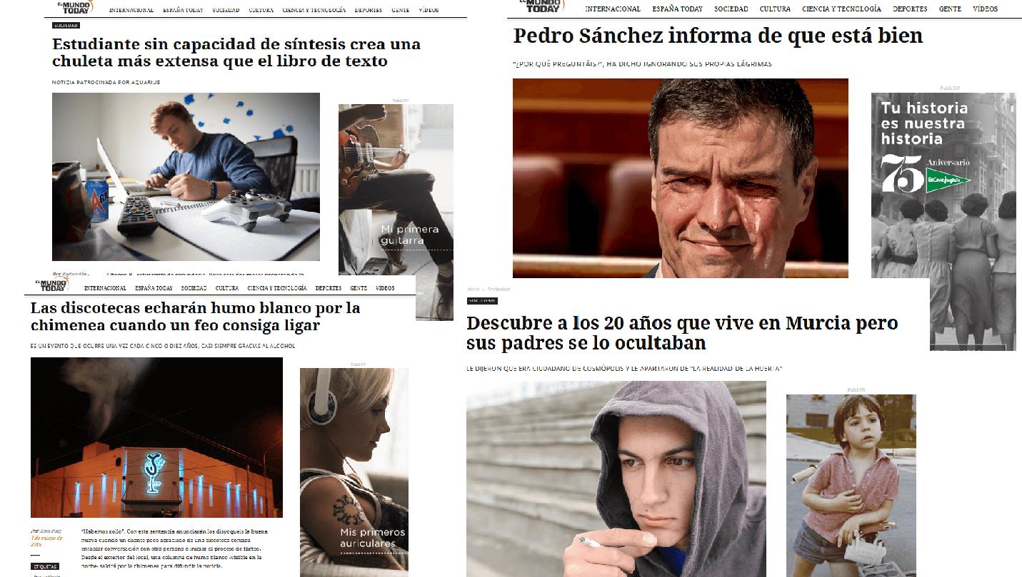 Titulares de El Mundo Today