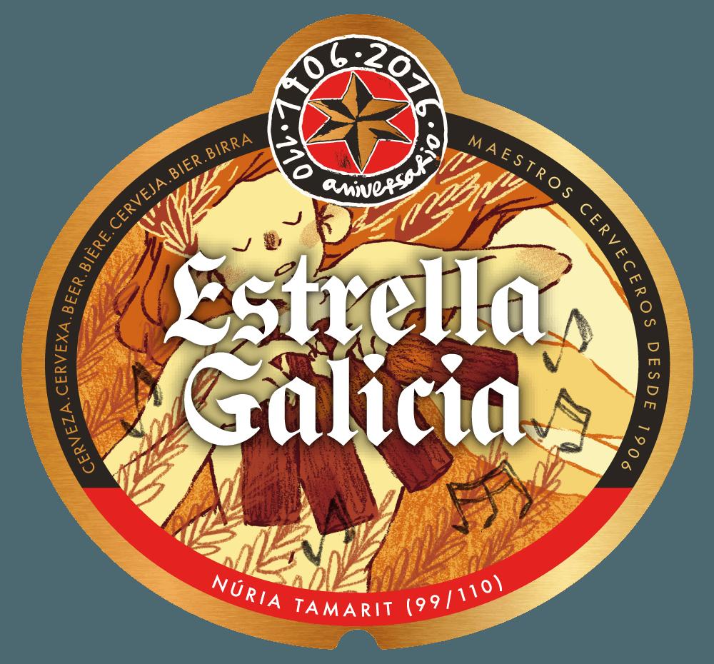Etiqueta Estrella Galicia
