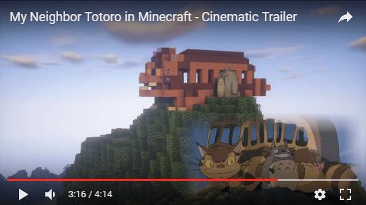 Totoro y Gatobus Minecraft
