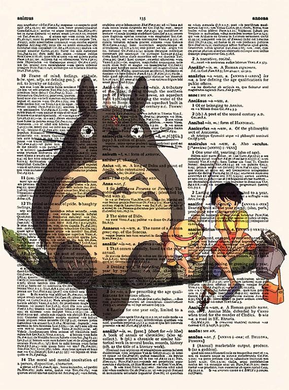 Lamina ilustrada Mi Vecino Totoro