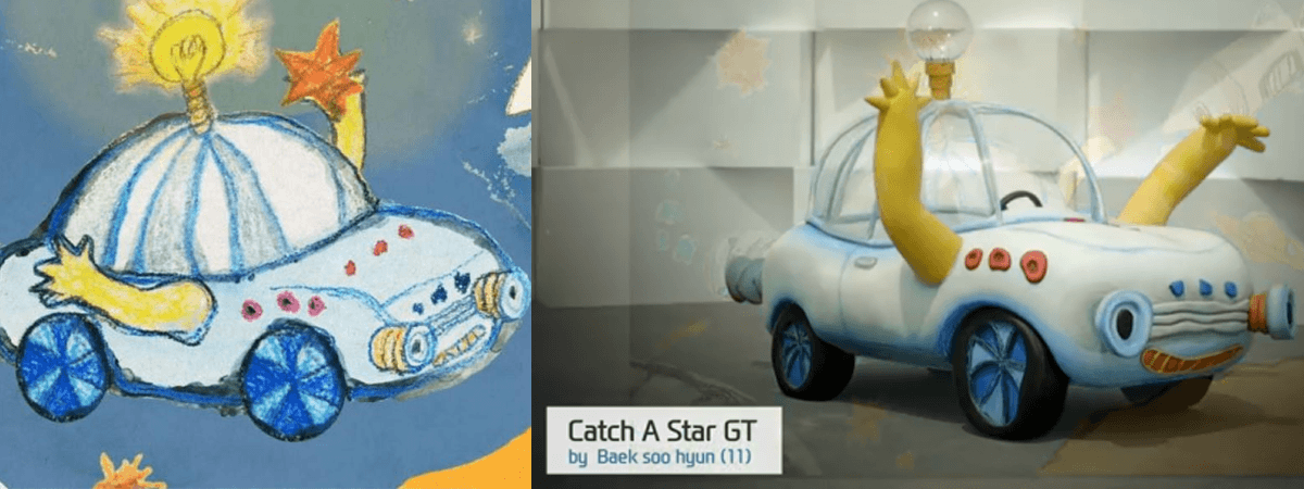 Hyundai contruyó coches diseñados por niños