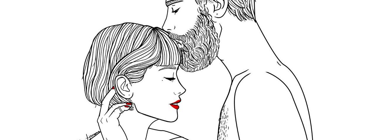 Sara Herranz, ilustraciones con un guiño en rojo