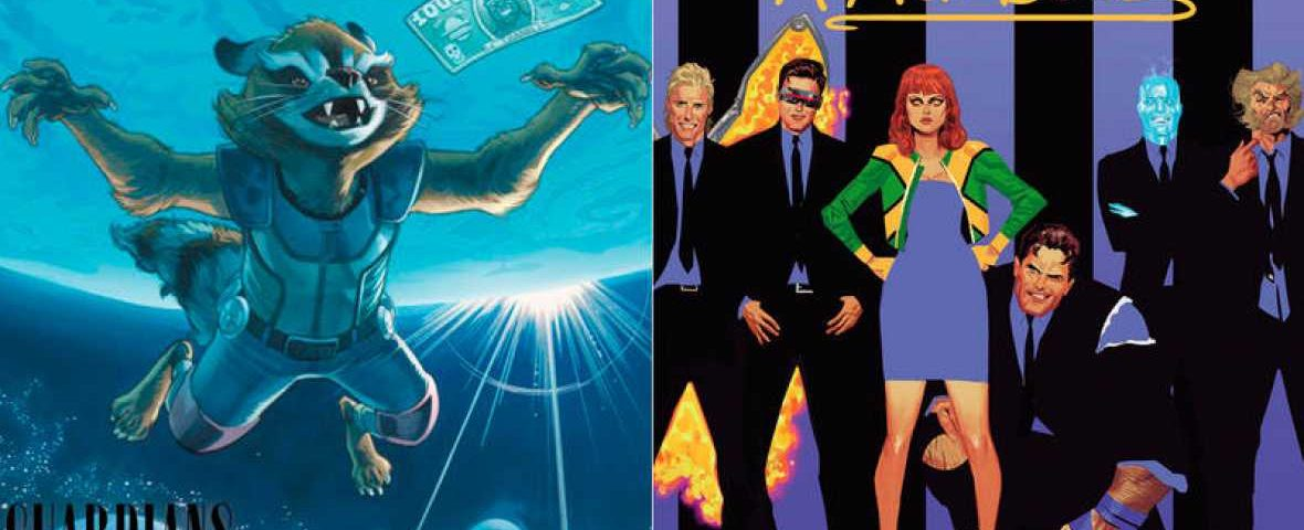 Los superhéroes de Marvel y su versión en portadas rock