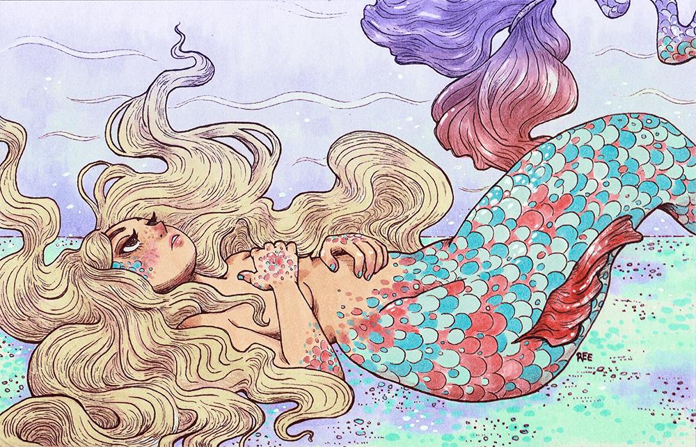 Ilustracion Sirena por Ree Artwork