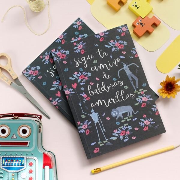 cuaderno bonito mago de oz