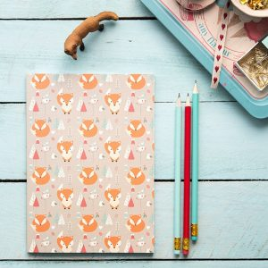 cuaderno zorro kawaii