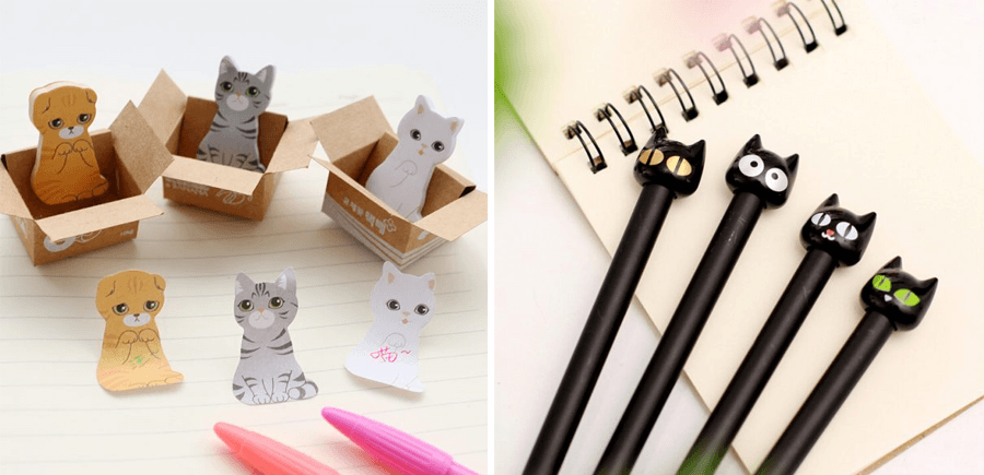 papeleria kawaii gatos