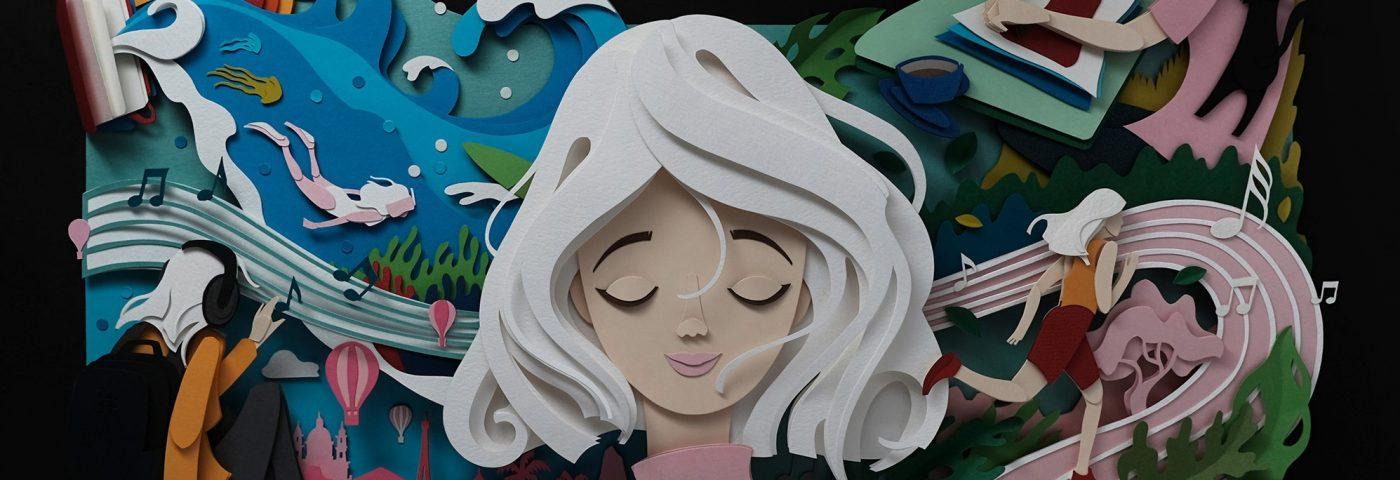 John Ed De Vera, arte con recortes de papel