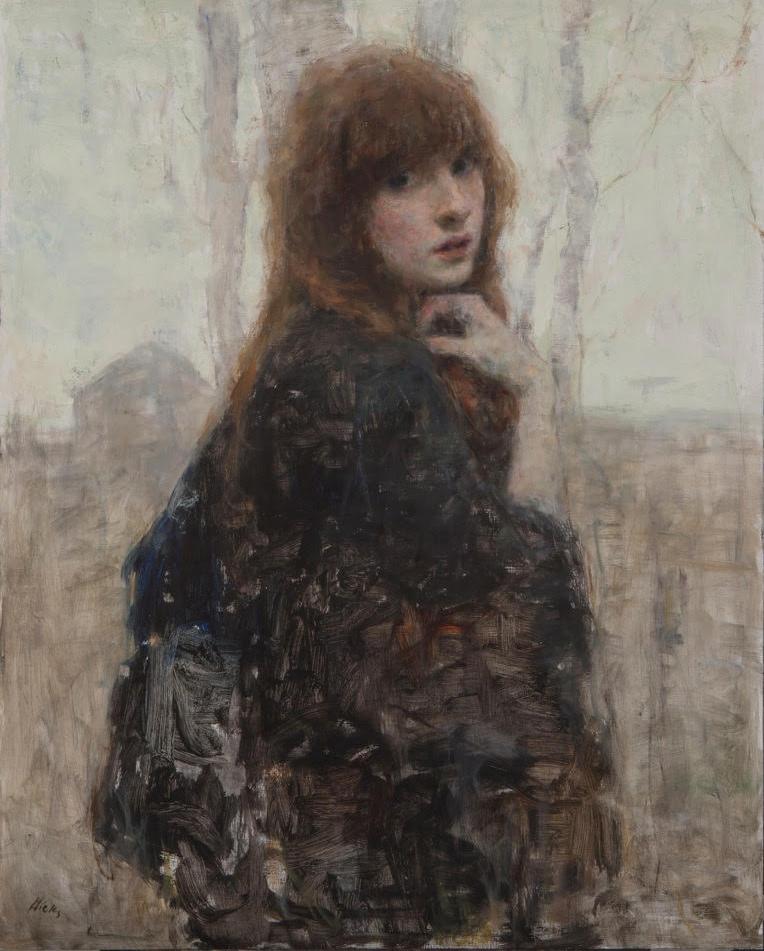 Ron Hicks pintura mujer