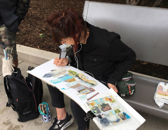urban sketchers maru godas