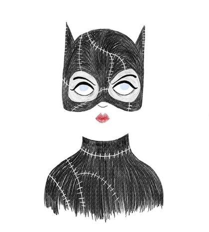 Silvia Chesire Dibujo Catwoman