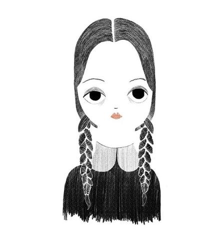 Silvia Chesire Dibujo Miercoles Addams