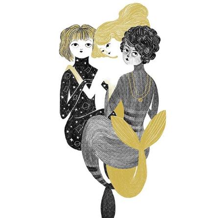 Silvia Chesire Dibujo Sirenas