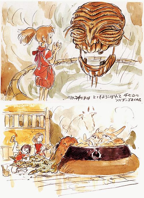 Arte de Miyazaki El viaje de Chihiro