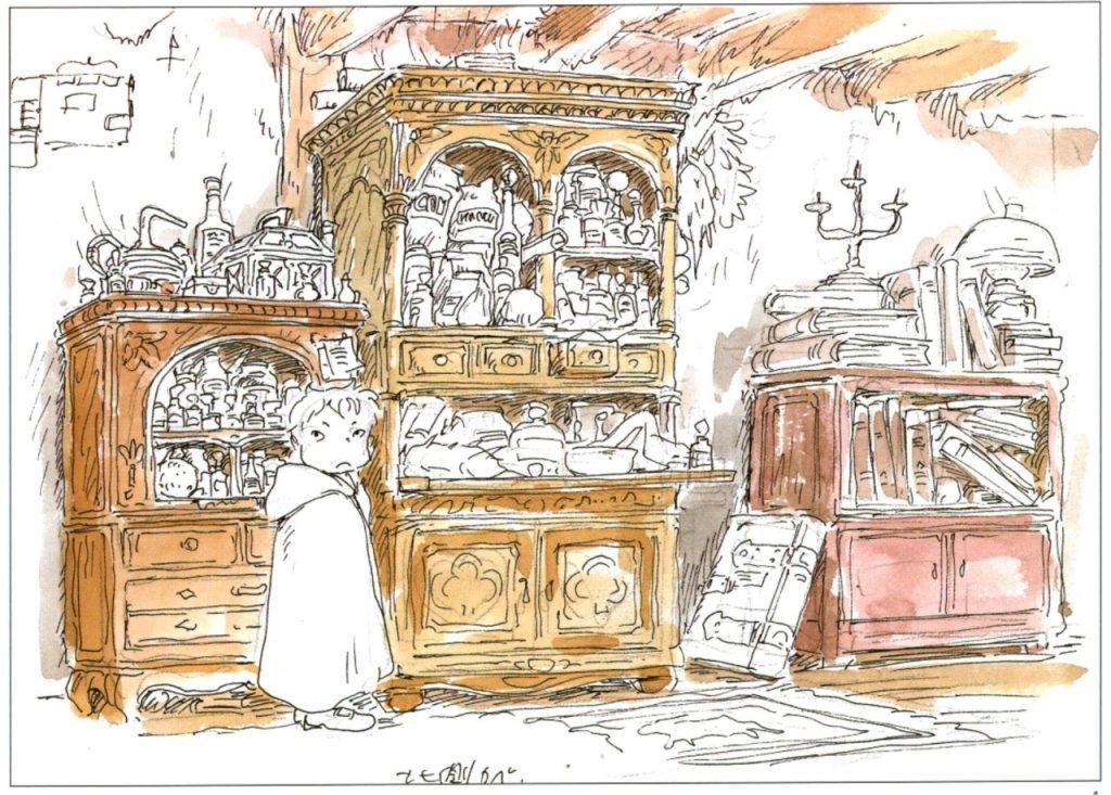 Miyazaki El Castillo Ambulante Bocetos
