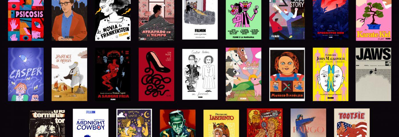 Filmin colabora con ilustradores para rediseñar carteles de los clásicos del cine