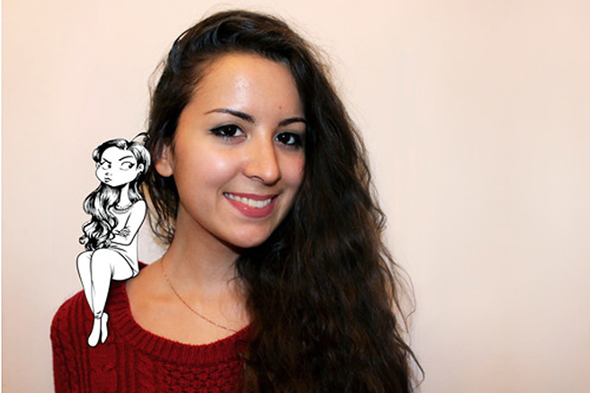 Cassandra Calin, problemas de mujeres hechos viñetas